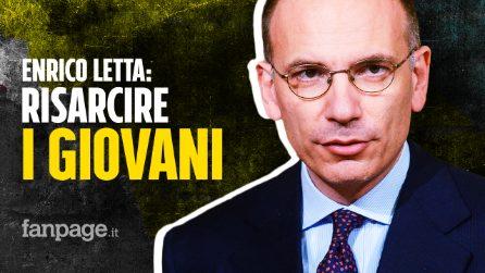 """Enrico Letta: """"Risarcire i giovani, che si sono sacrificati per salvare gli anziani dal Covid"""""""