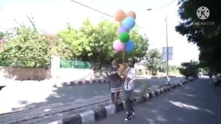 Lega il cane a dei palloncini per farlo alzare in volo: arrestato l'influencer indiano