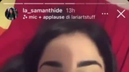 """Samantha Curcio: """"Sono stata operata alla testa, sto bene"""""""