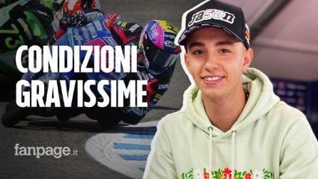 Dupasquier, le condizioni del pilota di Moto3: traumi su tutto il corpo, operato nella notte