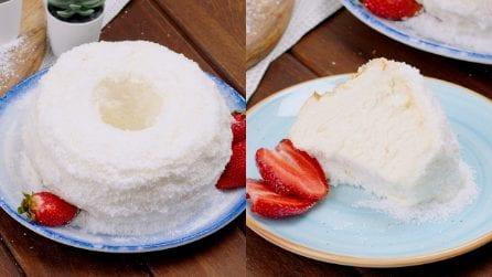 Angel cake al cocco: il segreto per renderla soffice e leggera!