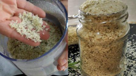 Sale aromatizzato al limone e rosmarino: la ricetta semplice per prepararlo