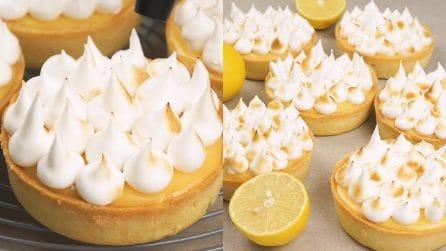 Tartellette meringate con crema al limone: fresche e golose!