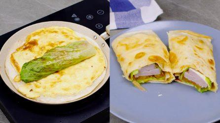 Piadina con frittata ripiena: la ricetta veloce e sfiziosa!