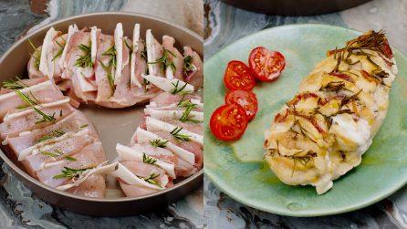 Pollo a fisarmonica al forno: il secondo piatto saporito e veloce!