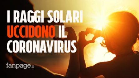 I raggi solari uccidono il coronavirus in meno di un minuto