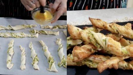 Stick di sfoglia con zucchine: l'aperitivo gustoso e semplice da preparare