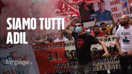 """Roma, corteo SiCobas per il facchino ucciso: """"Continueremo la lotta di Adil"""""""