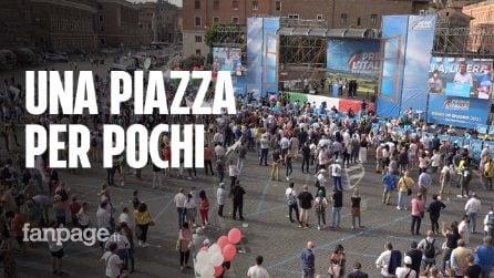 Salvini convoca la manifestazione della ripartenza, ma in piazza solo un migliaio di leghisti