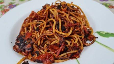 Spaghetti all'assassina: la ricetta del gustoso primo piatto barese