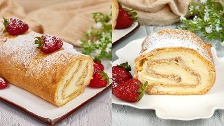 Rotolo di karpatka con crema pasticcera: il dolce polacco da provare nelle occasioni speciali!