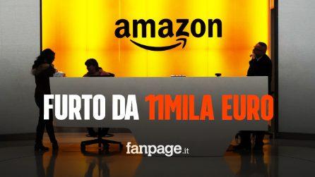 Incolla prodotti su petto e gambe per rubarli: operaio Amazon ha sottratto merce per 11mila euro