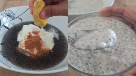 Yogurt depurativo ai semi di chia: la pausa gustosa e leggera