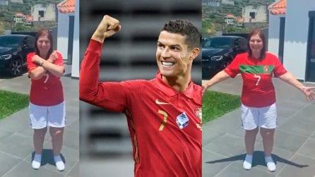 Mamma Dolores, il balletto per Cristiano Ronaldo e il Portogallo
