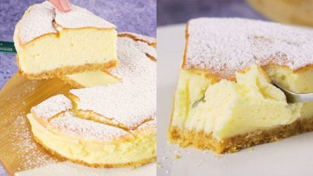 Cheese souffle cake: how to make it creamy and delicate!