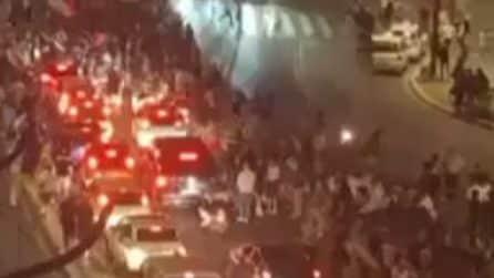 Roma, traffico bloccato per la vittoria dell'Italia contro il Belgio
