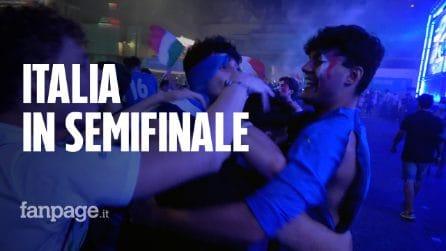 Italia in semifinale agli Europei, è festa azzurra: cori e caroselli a Roma