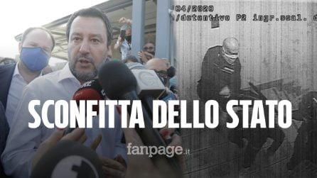 """Salvini a Santa Maria condanna le violenze: """"Sconfitta dello Stato"""", ma non incontra i detenuti"""