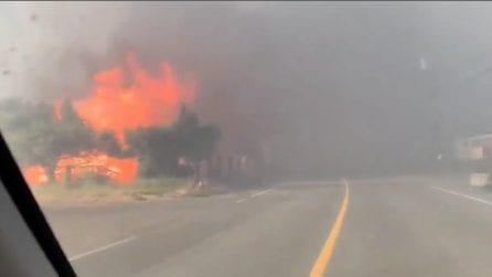 Emergenza caldo, temperature di 49,6°C: incendi in Canada, abitanti costretti ad abbandonare le case