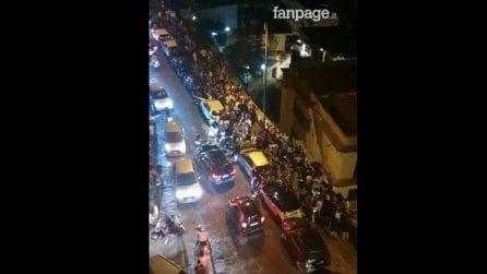 Movida al Vomero, centinaia di giovani assembrati e discoteca in strada