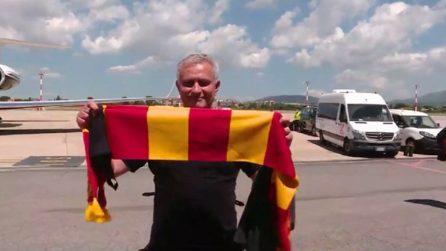 Mourinho arriva a Roma, si scatena l'entusiasmo del popolo giallorosso