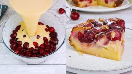Clafoutis alle ciliegie: il dolce francese dal gusto pieno e cremoso!