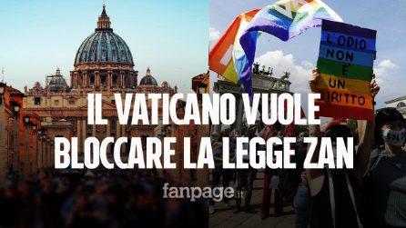 """Il Vaticano vuole bloccare la legge Zan: """"A rischio la libertà di pensiero dei cattolici"""""""