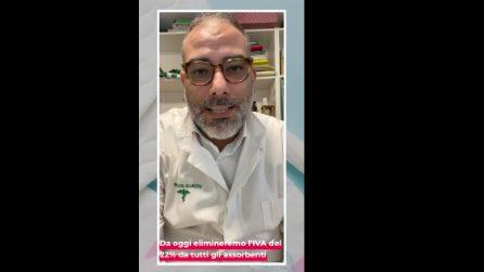 Napoli, il farmacista toglie l'Iva al 22 % sugli assorbenti