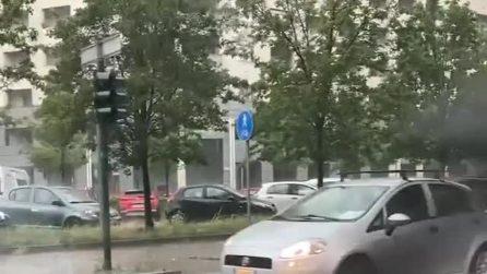 Violento nubifragio a Torino: allagamenti e disagi in diversi quartieri