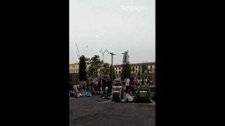 Napoli, torna il degrado a piazza Garibaldi
