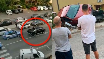 Cagliari, ruba pick up e viene inseguito dalla polizia: spari e incidente finale spaventoso
