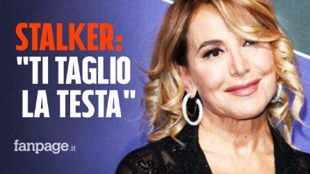 """Barbara D'Urso perseguitata da uno stalker, le minacce: """"Ti taglio la testa"""""""