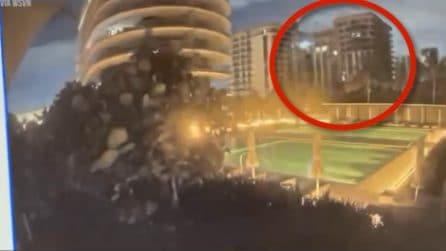 Miami, il momento del crollo del palazzo di 12 piani ripreso dalle telecamere di videosorveglianza