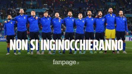 I giocatori dell'Italia non si inginocchieranno per il Black Lives Matter nel match contro l'Austria
