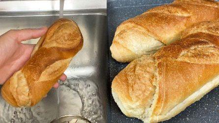 Come far tornare fresco il pane raffermo: il trucchetto da provare subito!