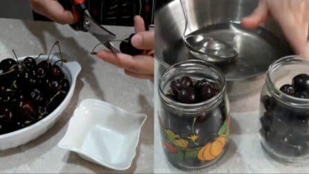 Ciliegie sotto spirito: il metodo per conservale fresche e saporite
