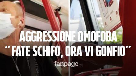 """Aggressione omofoba sul bus a Roma, ragazzi minacciati per un bacio: """"Fate schifo, ora vi gonfio"""""""