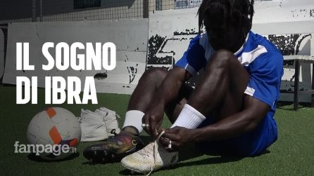 Dopo il carcere in Libia e la traversata col barcone, Ibra adesso ha una casa e sogna la Serie A