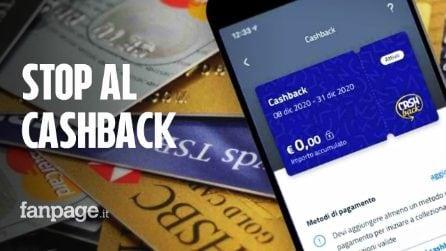 Stop al cashback da luglio: il governo vuole sospenderlo per 6 mesi