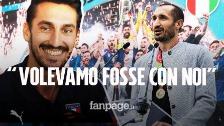 """La commovente dedica di Chiellini ad Astori: """"Questa vittoria è per Davide, volevamo fosse con noi"""""""