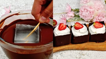 Chocolate cubes: the dessert to serve and enjoy!