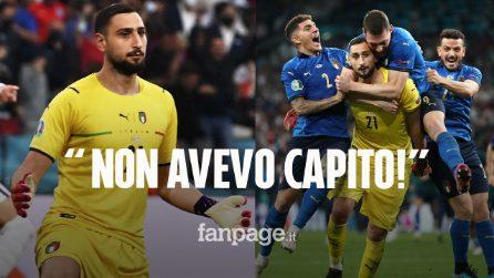 """Gigio Donnarummasvela perché non ha esultato dopo il rigore: """"Non avevo capito che avevamo vinto"""""""
