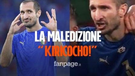 """La terribile maledizione urlata da Chiellini a Sakaprima del rigore decisivo: """"Kiricocho!"""""""