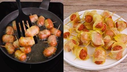 Mini würstel con patate fritte: il contorno che farà impazzire i più piccoli!
