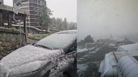 Zero gradi e neve: a Cervinia il clima è invernale