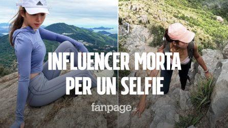 Selfie panoramico estremo, influencer cade da una cascata e muore tragicamente
