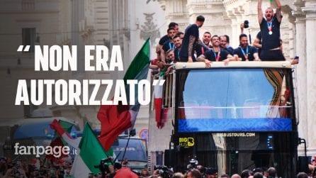"""Festa per vittoria Europei, il bus scoperto era stato vietato: """"Figc non ha rispettato i patti"""""""