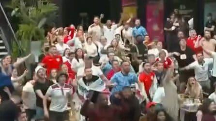 Europei, Inghilterra in semifinale: l'esplosione dei tifosi inglesi