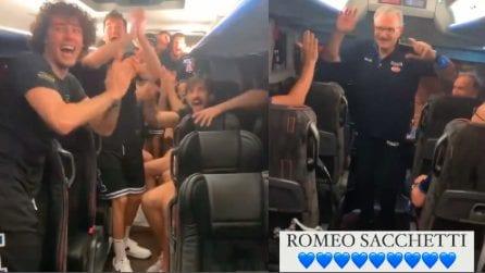Basket Italia come la Nazionale di calcio: si scatena l'entusiasmo sul pullman