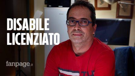 """Alessandro, lavoratore cieco licenziato dopo lo sblocco: """"Non servivo più mi hanno buttato via"""""""